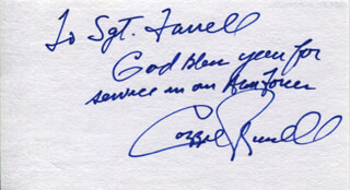CAZZIE RUSSELL - AUTOGRAPH NOTE SIGNED
