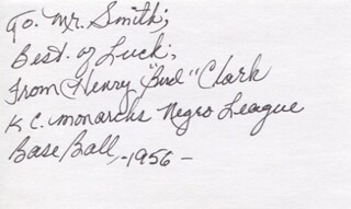 Autographs: HENRY BIRD CLARK - AUTOGRAPH NOTE SIGNED