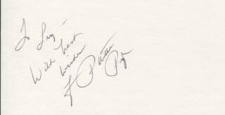 PATTI PAGE - AUTOGRAPH NOTE SIGNED  - HFSID 346885