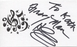CLARENCE FROGMAN HENRY - INSCRIBED PRINTED CARD SIGNED IN INK