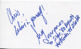 GREG LOUGANIS - AUTOGRAPH NOTE SIGNED