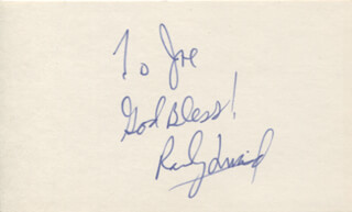 RANDY QUAID - AUTOGRAPH NOTE SIGNED