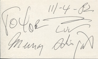 MURRAY SCHISGAL - INSCRIBED SIGNATURE 11/04/1982