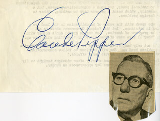 CLAUDE D. PEPPER - AUTOGRAPH