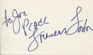 FRANCES FOSTER - AUTOGRAPH NOTE SIGNED