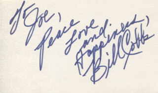 BILL COBBS - AUTOGRAPH NOTE SIGNED