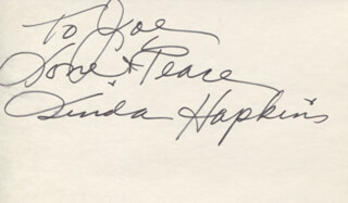 Autographs: LINDA HOPKINS - AUTOGRAPH NOTE SIGNED
