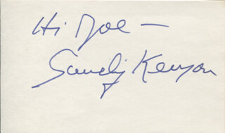 SANDY KENYON - INSCRIBED SIGNATURE