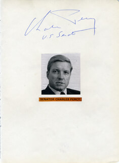 CHARLES H. PERCY - AUTOGRAPH