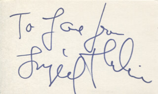 INGRID THULIN - AUTOGRAPH NOTE SIGNED