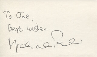 MICHAEL PALIN - AUTOGRAPH NOTE SIGNED