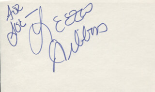 LEEZA GIBBONS - INSCRIBED SIGNATURE