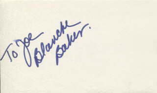 BLANCHE BAKER - INSCRIBED SIGNATURE