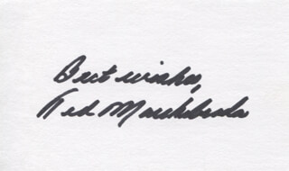 TED MARCHIBRODA - AUTOGRAPH SENTIMENT SIGNED