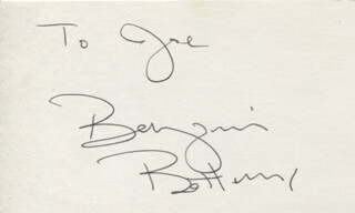 BENJAMIN BOTTOMS - INSCRIBED SIGNATURE