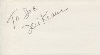 TERI KEANE - INSCRIBED SIGNATURE