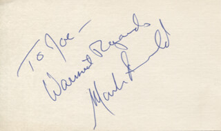MARK ARNOLD - AUTOGRAPH NOTE SIGNED
