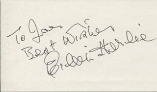EILEEN HERLIE - AUTOGRAPH NOTE SIGNED