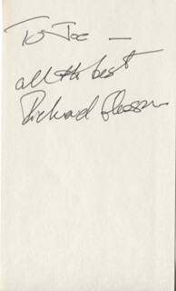 RICHARD GLEASON - AUTOGRAPH NOTE SIGNED