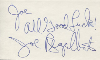 JOE REGALBUTO - AUTOGRAPH NOTE SIGNED