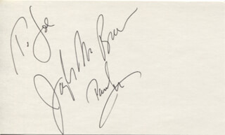 JOSEPH BREEN - AUTOGRAPH NOTE SIGNED