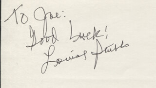 LOUISE STUBBS - AUTOGRAPH NOTE SIGNED