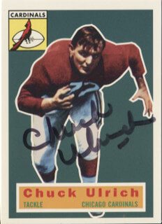 CHUCK ULRICH - TRADING/SPORTS CARD SIGNED