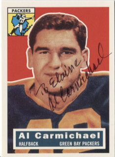 AL CARMICHAEL - INSCRIBED TRADING/SPORTS CARD SIGNED