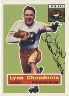 Autographs: LYNN CHANDNOIS - TRADING/SPORTS CARD SIGNED