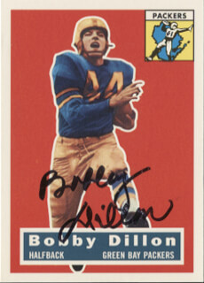 BOBBY DILLON - TRADING/SPORTS CARD SIGNED