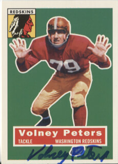 VOLNEY PETERS - TRADING/SPORTS CARD SIGNED