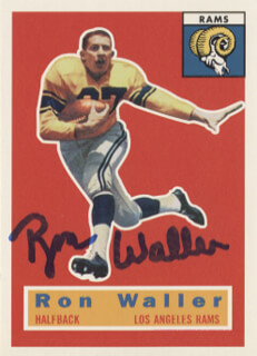 RON WALLER - TRADING/SPORTS CARD SIGNED