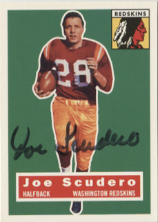 JOE SCUDERO - TRADING/SPORTS CARD SIGNED