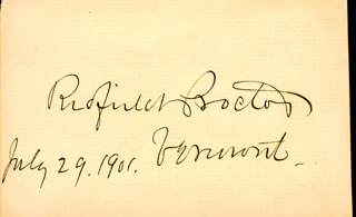 Autographs: REDFIELD PROCTOR - SIGNATURE(S) 07/29/1901