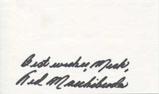 TED MARCHIBRODA - AUTOGRAPH NOTE SIGNED