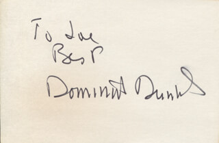 DOMINICK DUNNE - AUTOGRAPH NOTE SIGNED