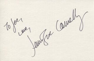 JENNIFER CONNELLY - AUTOGRAPH NOTE SIGNED