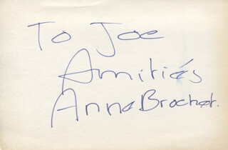 ANNE BROCHET - AUTOGRAPH NOTE SIGNED