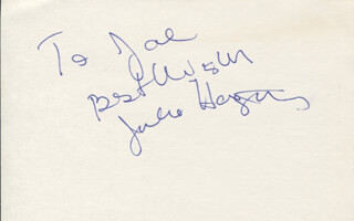 JULIE HAGERTY - AUTOGRAPH NOTE SIGNED  - HFSID 347060