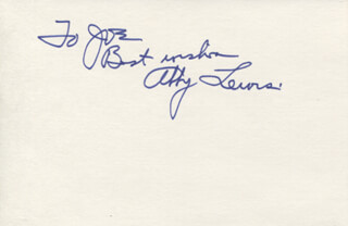 ABBY LEWIS - AUTOGRAPH NOTE SIGNED