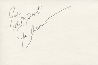 JAY ACOVONE - AUTOGRAPH NOTE SIGNED