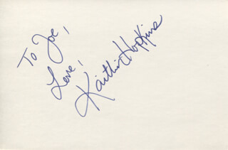 KAITLIN HOPKINS - AUTOGRAPH NOTE SIGNED