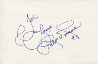 RICHARD SIMMONS - AUTOGRAPH NOTE SIGNED 1991