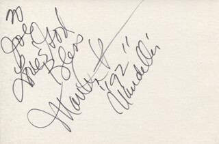 MARTHA REEVES & THE VANDELLAS (MARTHA REEVES) - AUTOGRAPH NOTE SIGNED 1992