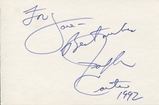 RALPH CARTER - AUTOGRAPH NOTE SIGNED 1992