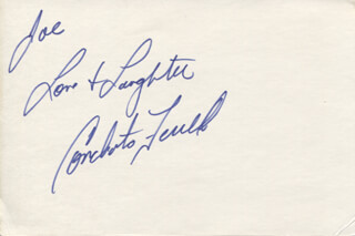 CONCHATA FERRELL - AUTOGRAPH NOTE SIGNED