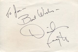DAVID FORSYTH - AUTOGRAPH NOTE SIGNED