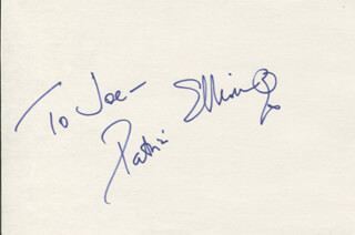 PATRICIA ELLIOTT - INSCRIBED SIGNATURE