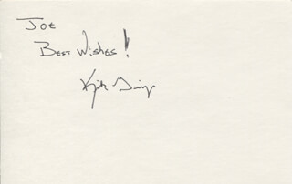 KIRK GEIGER - AUTOGRAPH NOTE SIGNED