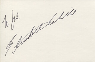 BETH (ELIZABETH) CAHILL - INSCRIBED SIGNATURE